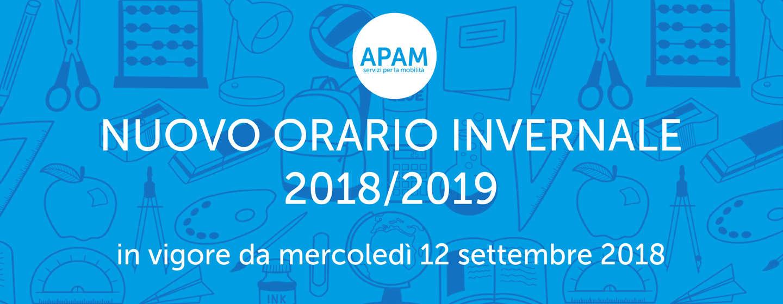 SERVIZIO INVERNALE 2018/2019: SONO ON-LINE I NUOVI ORARI